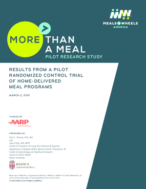 More Than a Meal: Pilot Research Study