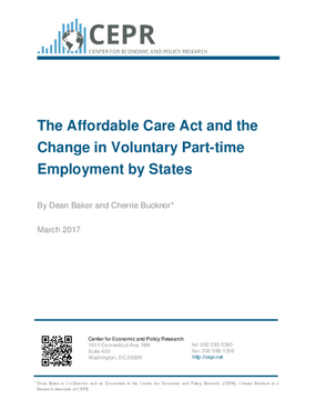 The Affordable Care Act and the Change in Voluntary Part-time Employment by States