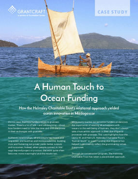 A Human Touch to Ocean Funding