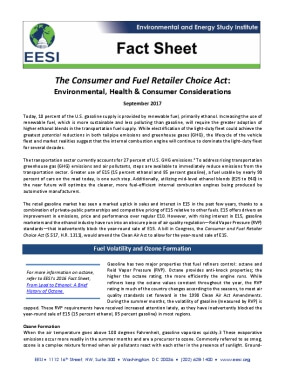 Fact Sheet: The Consumer and Fuel Retailer Choice Act